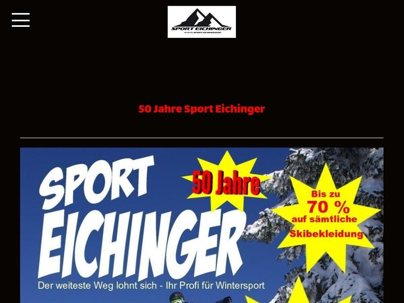 Screenshot von www.Sport-Eichinger.de